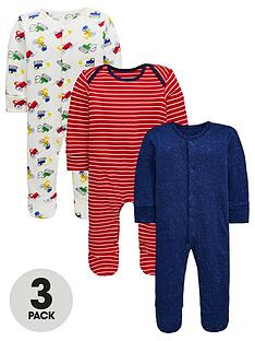 mini-v-by-very-baby-boys-3-pack-stripe-and-truck-print-sleepsuitsnbsp--multi-coloured