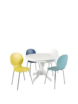ace-107-cm-round-solid-wood-dining-table-4-roma-chairs-in-blue-white-duck-egg-and-yellow