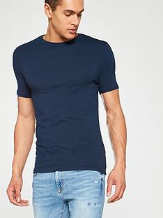 river-island-short-sleeve-musclenbsptee-navy