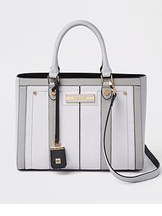 river-island-river-island-top-handle-tote-bag--light-grey