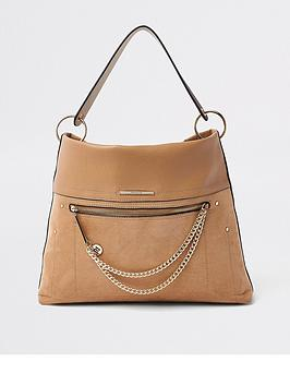 river-island-river-island-pocket-front-slouch-bag--tan
