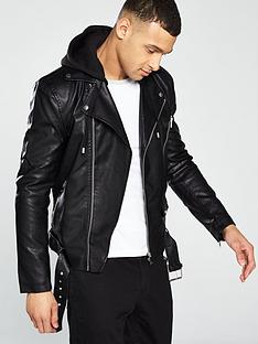 26ea08b8c Mens Leather Jackets | Leather Bikers & Bombers | Very