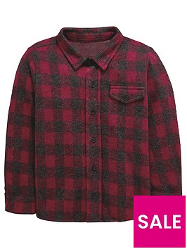 mini-v-by-very-soft-touch-brushed-check-long-sleeve-shirt-red