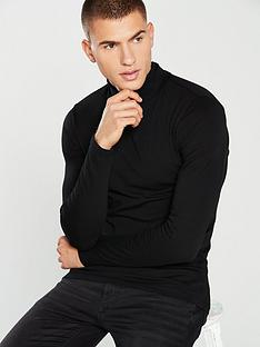 river-island-muscle-fit-roll-neck-t-shirt-black