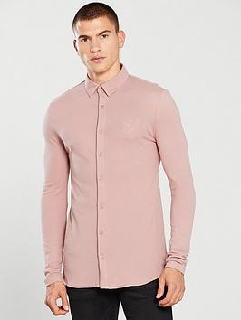 river-island-pink-r96-muscle-fit-button-up-shirt