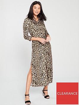 river-island-leopard-print-midi-dress-brown