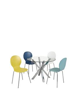 chopstick-100-cm-round-glass-table-4-roma-chairs-in-blue-white-duck-egg-and-yellow