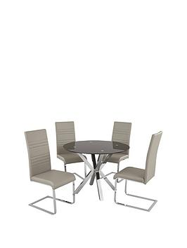 chopstick-100-cm-glass-and-chrome-round-dining-table-4-grey-jet-chairs