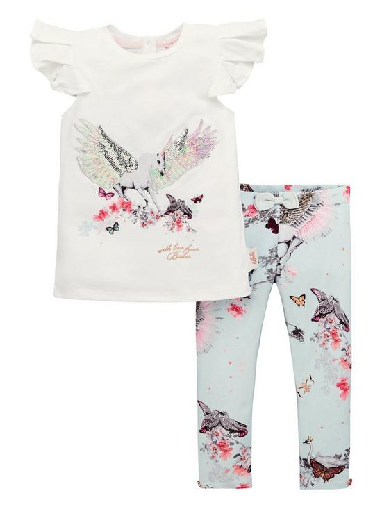 80cf32c52ad3d Baker by Ted Baker Toddler Girls Sparkle Graphic T Shirt And Legging ...