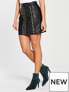 v-by-very-studded-pu-mini-skirt-black