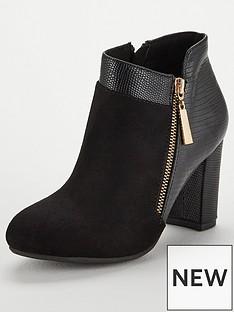 wallis-annalisa-mixed-material-side-zip-boot-black