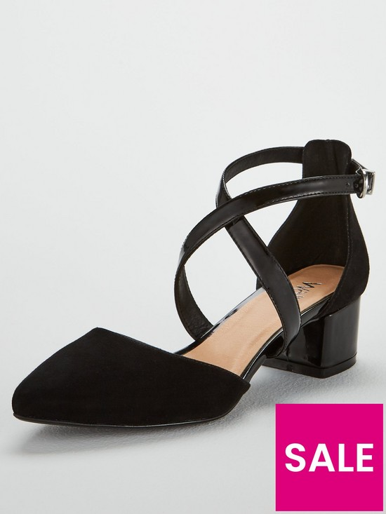6e1eb2b1627b Wallis Cara Low Block Heel Shoe - Black