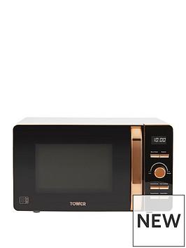 tower-20-litrenbspdigital-microwave-whiterose-gold