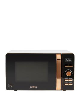 Tower 20-Litre Digital Microwave - White/Rose Gold