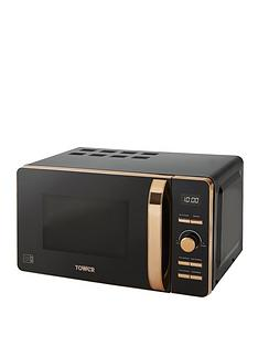 tower-20-litrenbspdigital-microwave-blackrose-gold