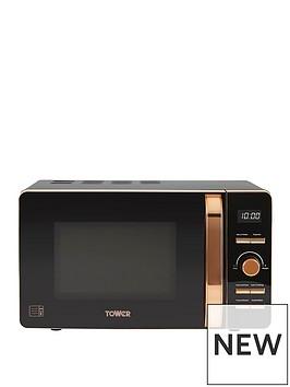 tower-20-litrenbspdigital-microwave-blackrose-gold