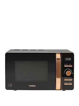 Tower 20-Litre Digital Microwave - Black/Rose Gold