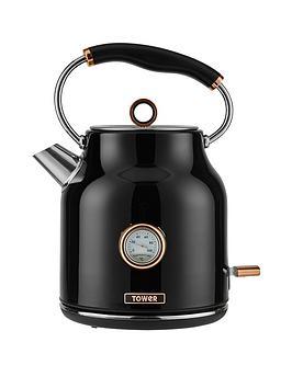 tower-bottega-17-litrenbsptrad-kettle-blackrose-gold