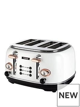 tower-bottega-4-slice-toaster-whiterose-gold