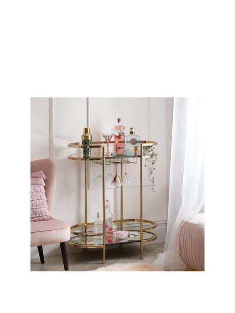michelle-keegan-home-aruba-drinks-trolley