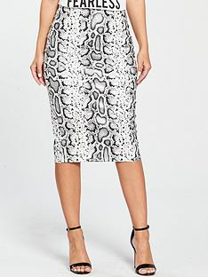 v-by-very-petite-printed-textured-pencil-skirt--nbspsnake