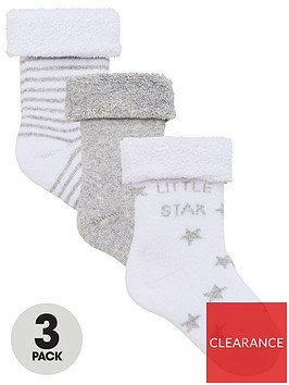 v-by-very-baby-unisex-3pk-little-star-terry-socks