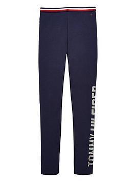 tommy-hilfiger-girls-metallic-logo-leggings-navy