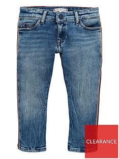 4adcf5a6ad58d Tommy Hilfiger Girls Lana Striaght Crop Jean
