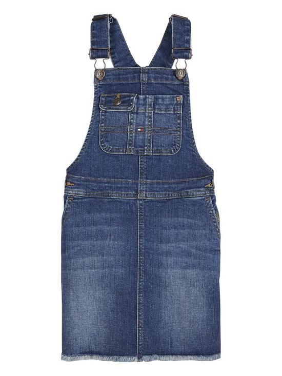 b2fb2b41 Tommy Hilfiger Girls Denim Dungaree Dress   very.co.uk