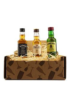 miniture-whisky-trio-in-a-gift-box-jack-daniels-bells-whisky-and-jamersons-irish