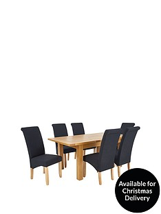 oakland-140-180-cm-solid-wood-extending-dining-table-6-chathamnbspfabric-chairs