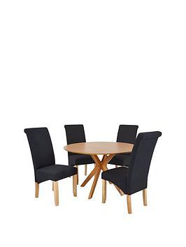 starburst-119-cm-oak-veneer-circular-dining-table-4-chathamnbspfabric-chairs