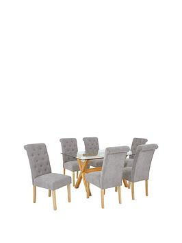 venla-150-cm-solid-wood-and-glass-dining-table-6-fabric-scroll-back-chairs