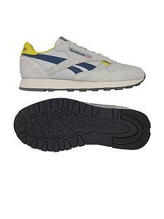 release date 8ad41 acd49 Reebok Classic Leather MU - Grey Navy Yellow