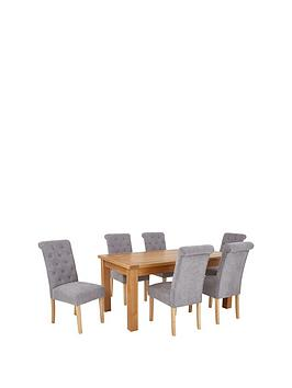oakland-170-cm-solid-wood-dining-table-6-fabric-scroll-back-chairs