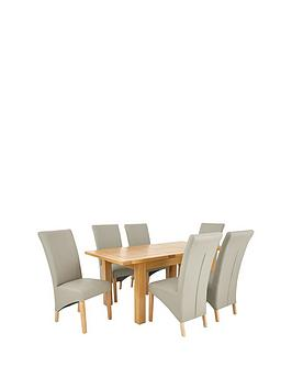 oakland-140-180-cm-solid-wood-extending-dining-table-6-vienna-chairs