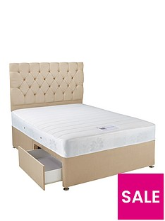 hush-from-airsprung-new-astbury-memory-divan-bed-with-storage-options-and-next-day-deliverynbsp--natural-or-grey