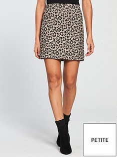 v-by-very-petite-leopard-jacquard-mini-skirt