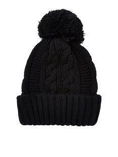 river-island-cable-bobble-beanie