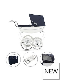 silver-cross-oberon-white-dolls-pram-4-piece-exclusive-bundle-with-optional-personalisation