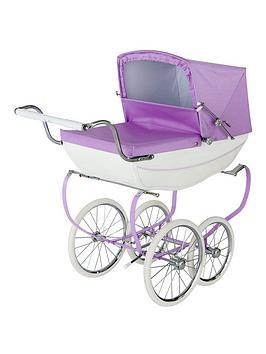 silver-cross-oberon-sparkle-purple-dolls-pram-personalised
