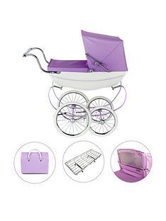silver-cross-oberon-sparkle-purple-dolls-pram-4-pieces-exclusive-bundle