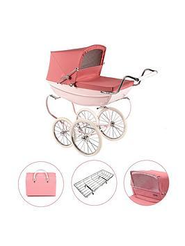 silver-cross-oberon-pink-dolls-pram-4-pieces-exclusive-bundle