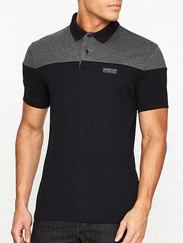 barbour-international-curve-colour-block-polo-shirt-black