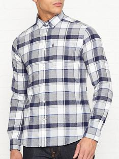 barbour-endsleigh-twill-check-shirt-grey