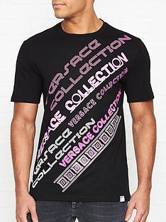 versace-collection-print-t-shirt-black