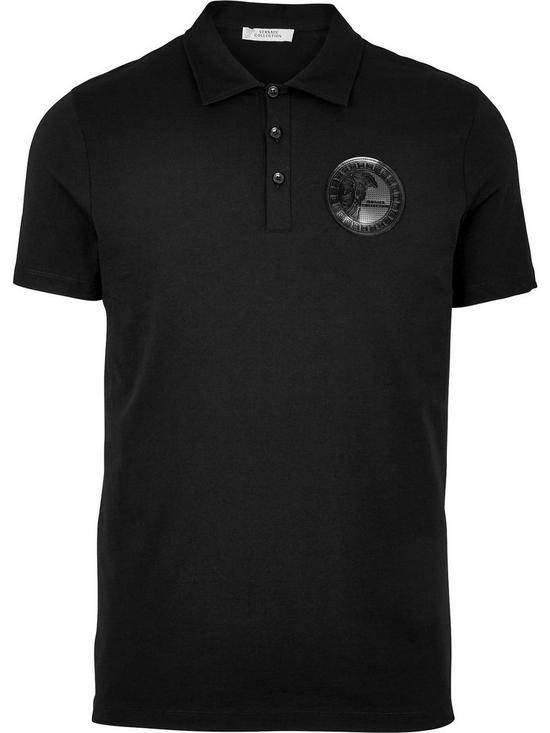 2540fe70 ... VERSACE COLLECTION Medusa Head Badge Logo Polo Shirt - Black. View  larger