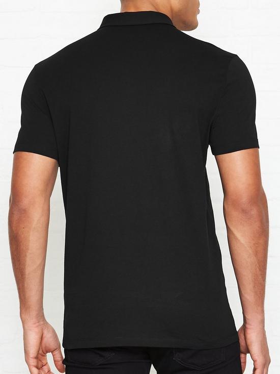 0f500c98 VERSACE COLLECTION Medusa Head Badge Logo Polo Shirt - Black | very ...