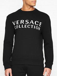 versace-collection-logo-print-sweatshirtnbsp--black