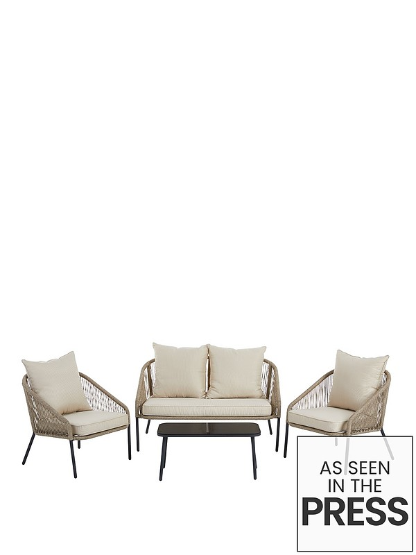 Incredible Napoli Rope Effect Sofa Set Pabps2019 Chair Design Images Pabps2019Com